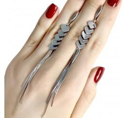 Серебряные серьги SilverBreeze без камней (1973141)