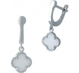 Серебряные серьги SilverBreeze с емаллю (2001645)