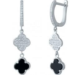 Серебряные серьги SilverBreeze с емаллю (1985465)