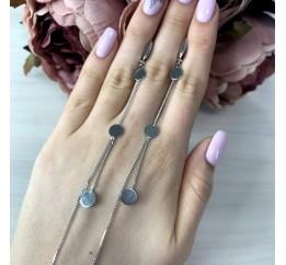 Серебряные серьги SilverBreeze без камней (1999448)
