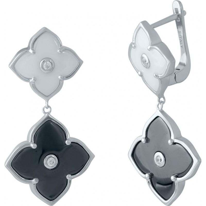 Серебряные серьги SilverBreeze с керамикой (1985700)