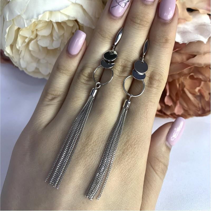 Серебряные серьги SilverBreeze без камней (2001973)