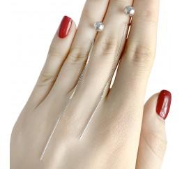 Серебряные серьги SilverBreeze без камней (1584095)
