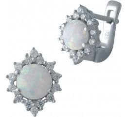 Серебряные серьги SilverBreeze с опалом (2018285)