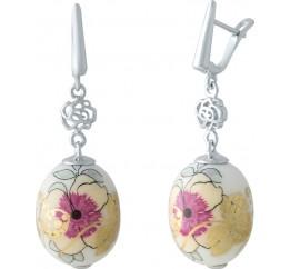 Серебряные серьги SilverBreeze с емаллю (2003847)