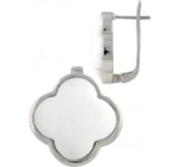 Серебряные серьги SilverBreeze с натуральным агатом (0389264)
