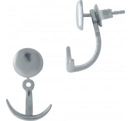 Серебряные серьги SilverBreeze без камней (1977385)
