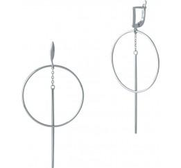 Серебряные серьги SilverBreeze без камней (2001928)