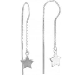 Серебряные серьги SilverBreeze без камней (1584026)