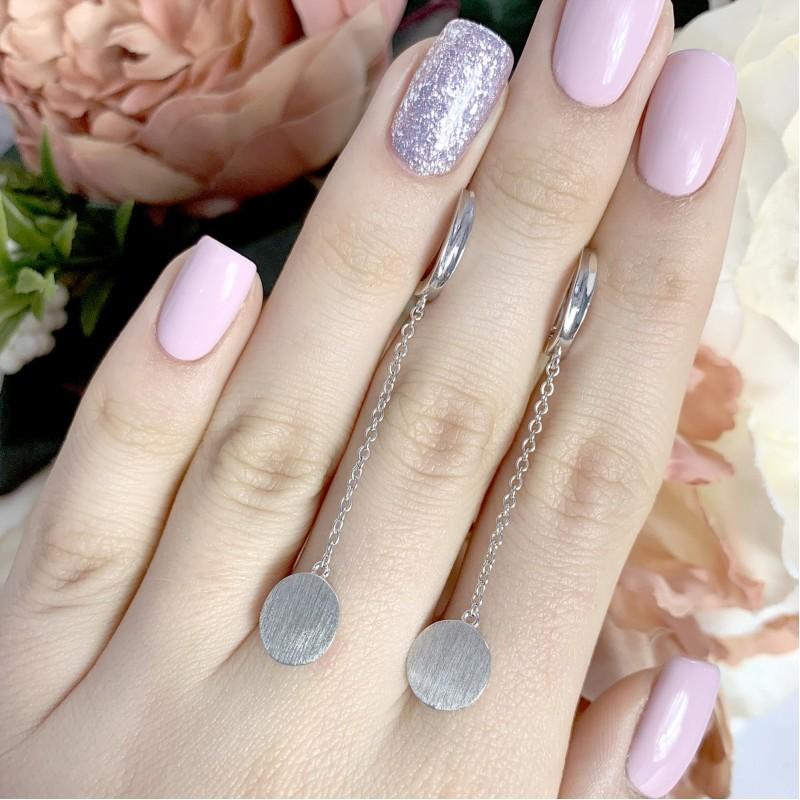 Серебряные серьги SilverBreeze без камней (1951330)