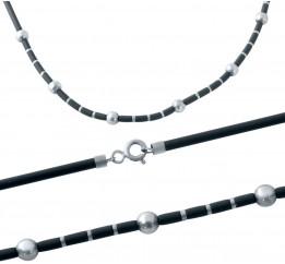Серебряный шнурок SilverBreeze с каучуком (2013389) 500 размер