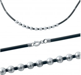 Серебряный шнурок SilverBreeze с каучуком (2013365) 500 размер