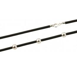 Серебряный шнурок SilverBreeze с каучуком (1288900) 500 размер