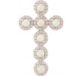 Серебряный крестик SilverLine с опалом (0708270)