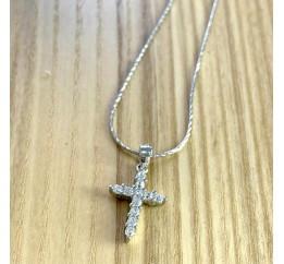 Серебряный крестик SilverBreeze с фианитами (1974964)