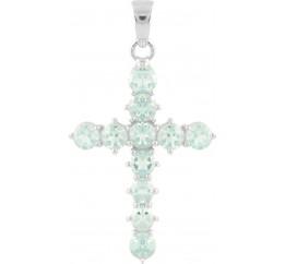 Серебряный крестик SilverBreeze с топазом (1504567)