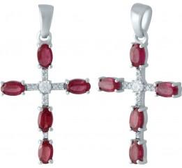 Серебряный крестик SilverBreeze с рубином (1963074)