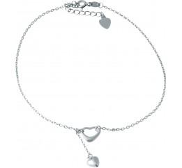 Серебряный браслет на ногу SilverBreeze без камней (1928226) 2326 размер
