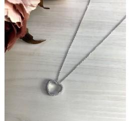 Серебряное колье SilverBreeze с фианитами (2014973) 440 размер