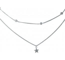 Серебряное колье SilverBreeze с фианитами (1993828) 420 размер