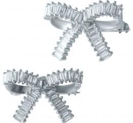 Серебряная брошка SilverBreeze с фианитами (1909454)