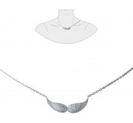 Серебряное колье SilverBreeze с фианитами (1931226) 420 размер
