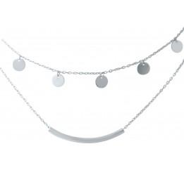 Серебряное колье SilverBreeze без камней (1935958) 450 размер