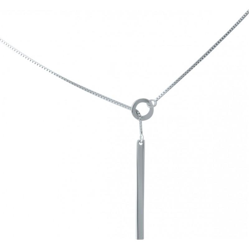 Серебряное колье SilverBreeze без камней (1936276) 480 размер