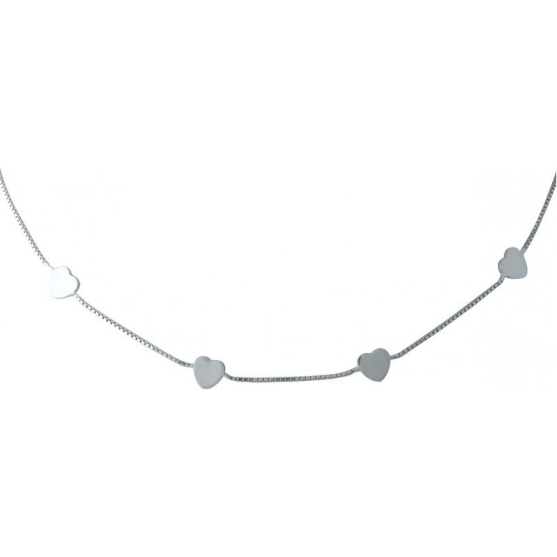 Серебряное колье SilverBreeze без камней (1952740) 420 размер