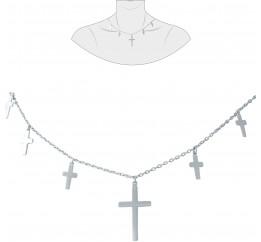 Серебряное колье SilverBreeze без камней (1931233) 420 размер