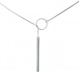 Серебряное колье SilverBreeze без камней (1936009) 440 размер
