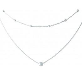 Серебряное колье SilverBreeze без камней (1953136) 450 размер