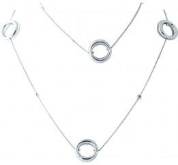 Серебряное колье SilverBreeze без камней (1965108) 800 размер