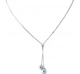 Серебряное колье SilverBreeze без камней (1965122) 450 размер