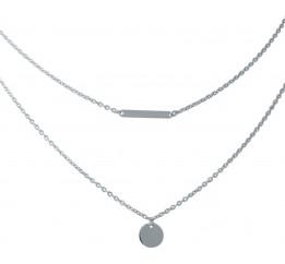 Серебряное колье SilverBreeze без камней (1965160) 500 размер