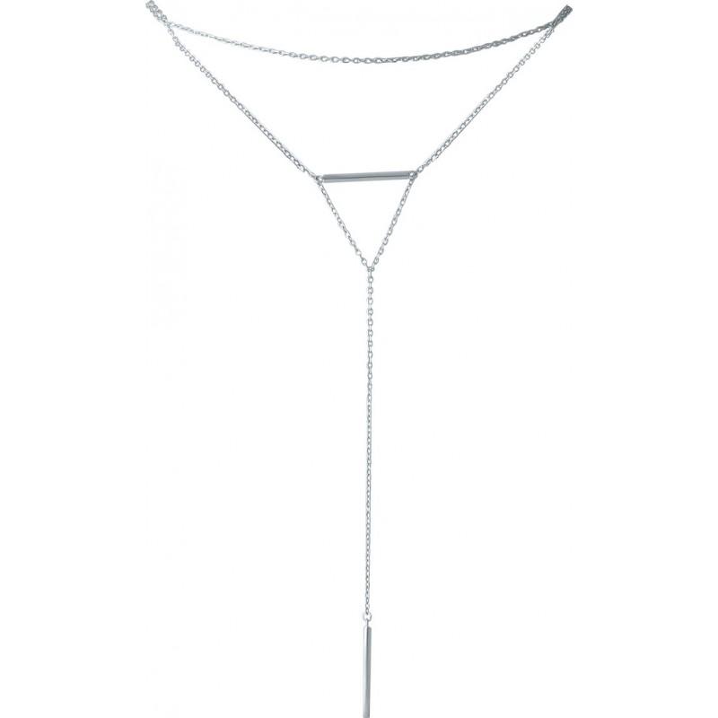 Серебряное колье SilverBreeze без камней (1965207) 450 размер