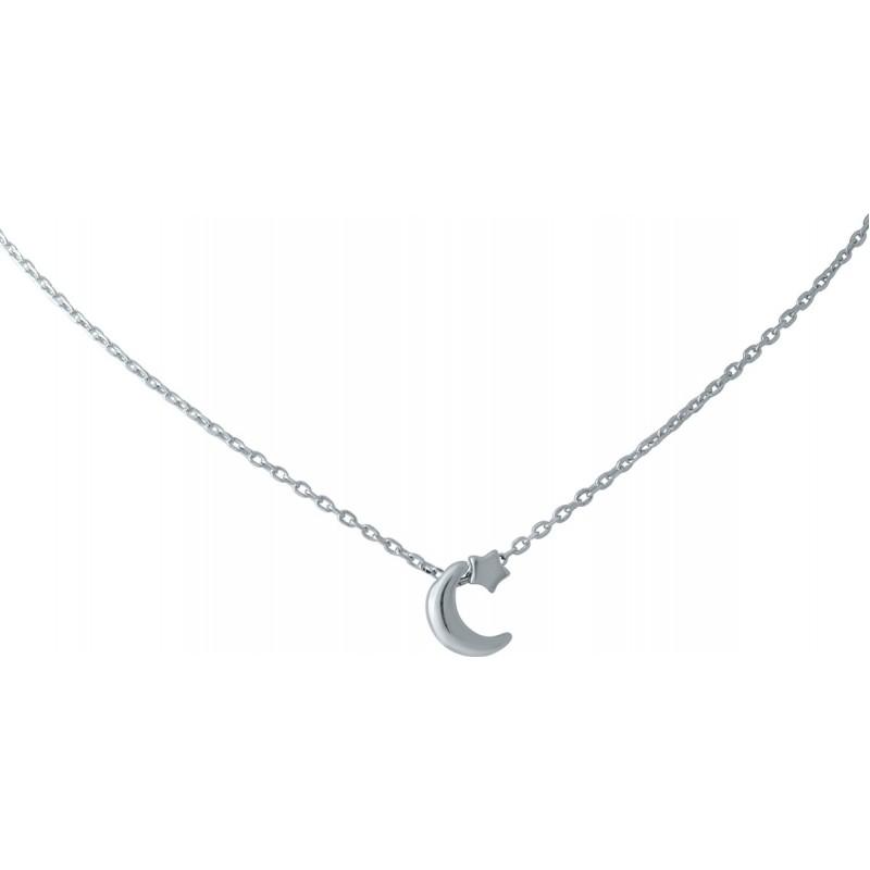 Серебряное колье SilverBreeze без камней (1966884) 450 размер