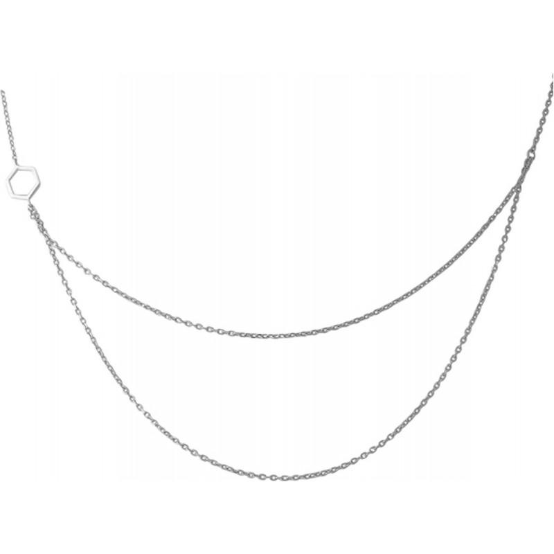 Серебряное колье SilverBreeze без камней (1966938) 7578 размер