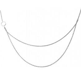 Серебряное колье SilverBreeze без камней (1966945) 500 размер