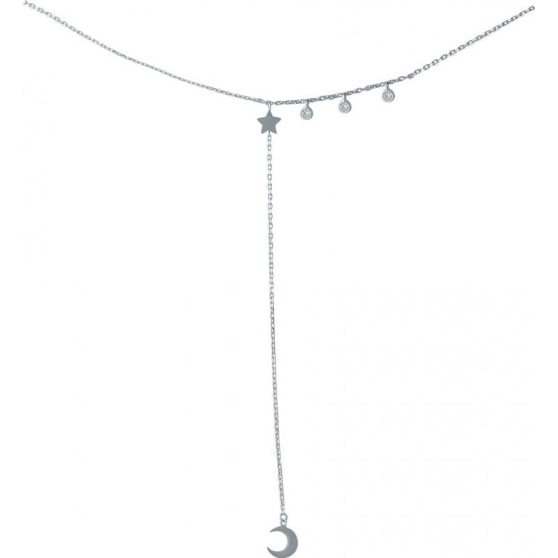 Серебряное колье SilverBreeze с фианитами (1966983) 450 размер