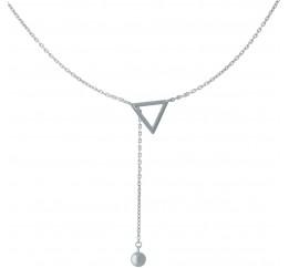 Серебряное колье SilverBreeze без камней (1966990) 450 размер