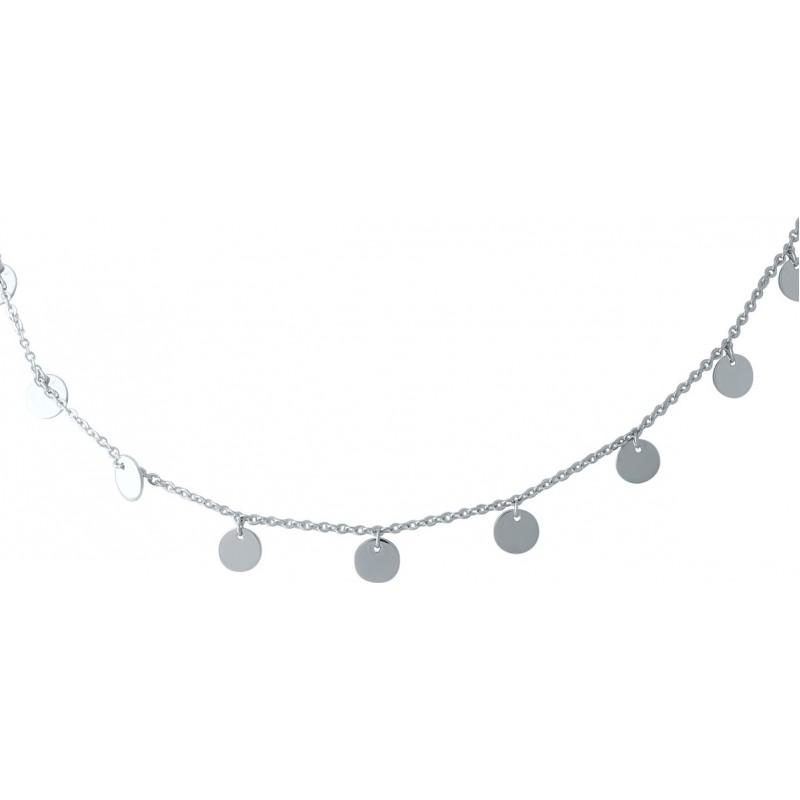 Серебряное колье SilverBreeze без камней (1967027) 450 размер