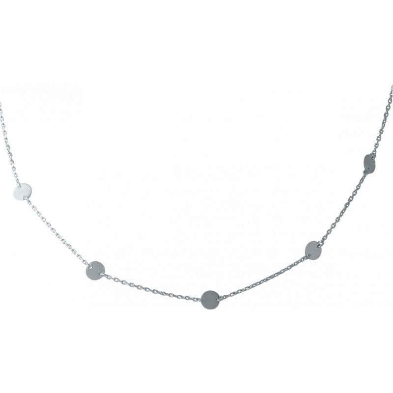 Серебряное колье SilverBreeze без камней (1967041) 450 размер