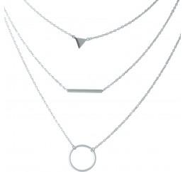 Серебряное колье SilverBreeze без камней (1967126) 500 размер