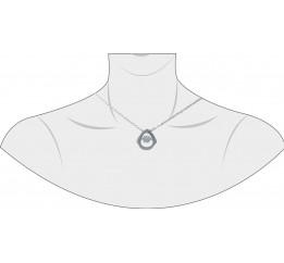 Серебряное колье SilverBreeze с фианитами (1976043) 420 размер