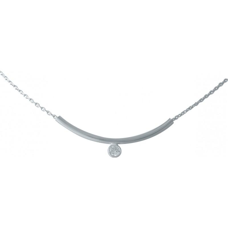 Серебряное колье SilverBreeze с фианитами (1976760) 380400 размер