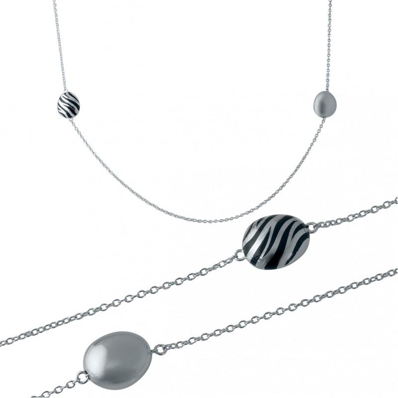 Серебряное колье SilverBreeze с емаллю (1982631) 800 размер