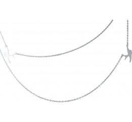 Серебряное колье SilverBreeze без камней (1983119) 420 размер