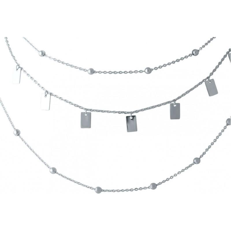 Серебряное колье SilverBreeze без камней (2014270) 420 размер