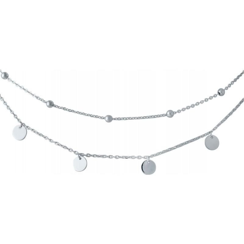 Серебряное колье SilverBreeze без камней (2014355) 450 размер